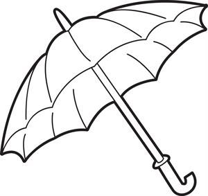 300x283 The Best Umbrella Coloring Page Ideas On Rainy Day