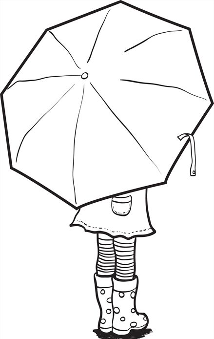 439x694 Umbrella Coloring Page Colouring Crafts, Stamps