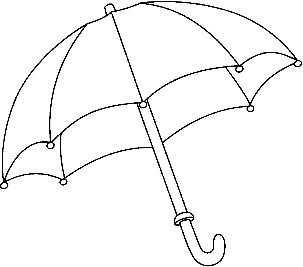 Umbrella Drawing on head week