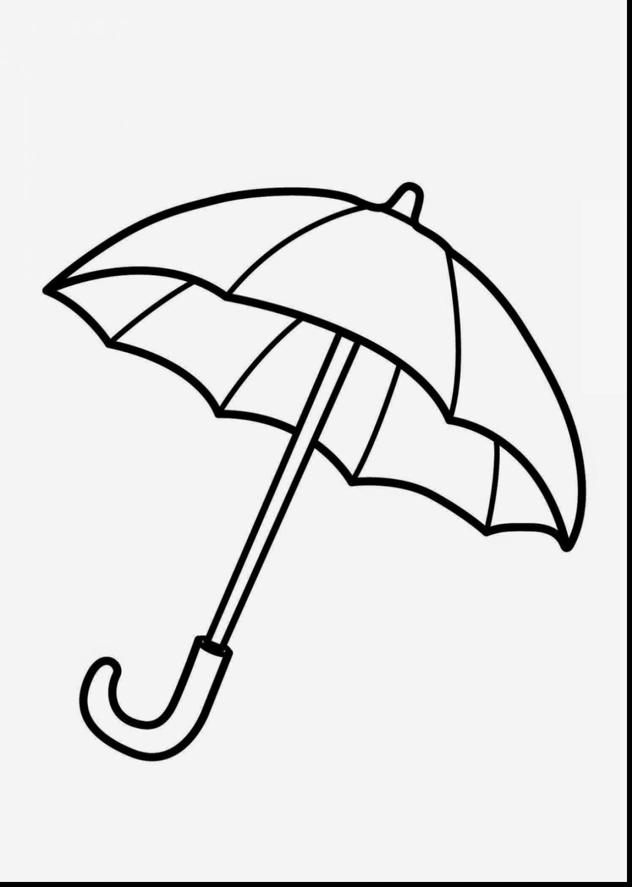 1255x1760 Surprising How To Draw Closed Umbrella With Umbrella Coloring Page