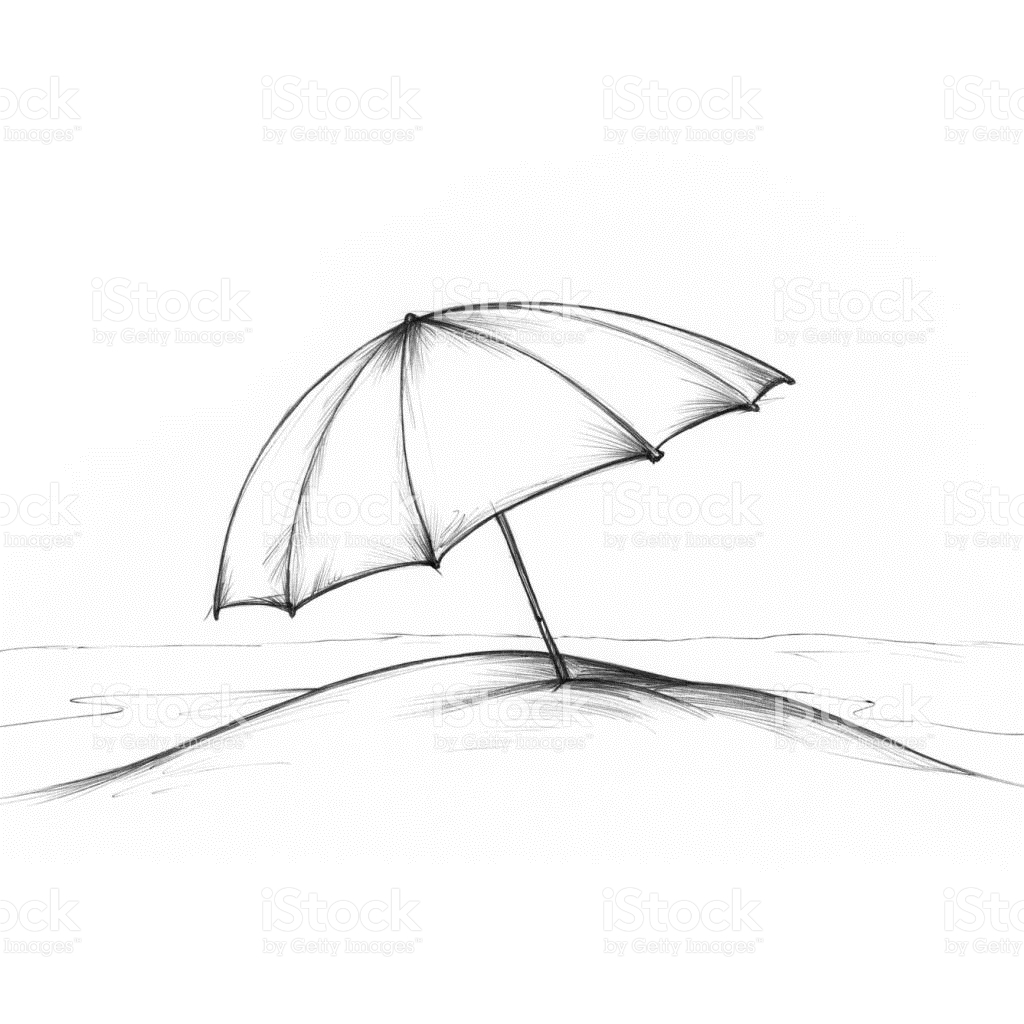 1024x1024 Drawn Beach Sun Umbrella