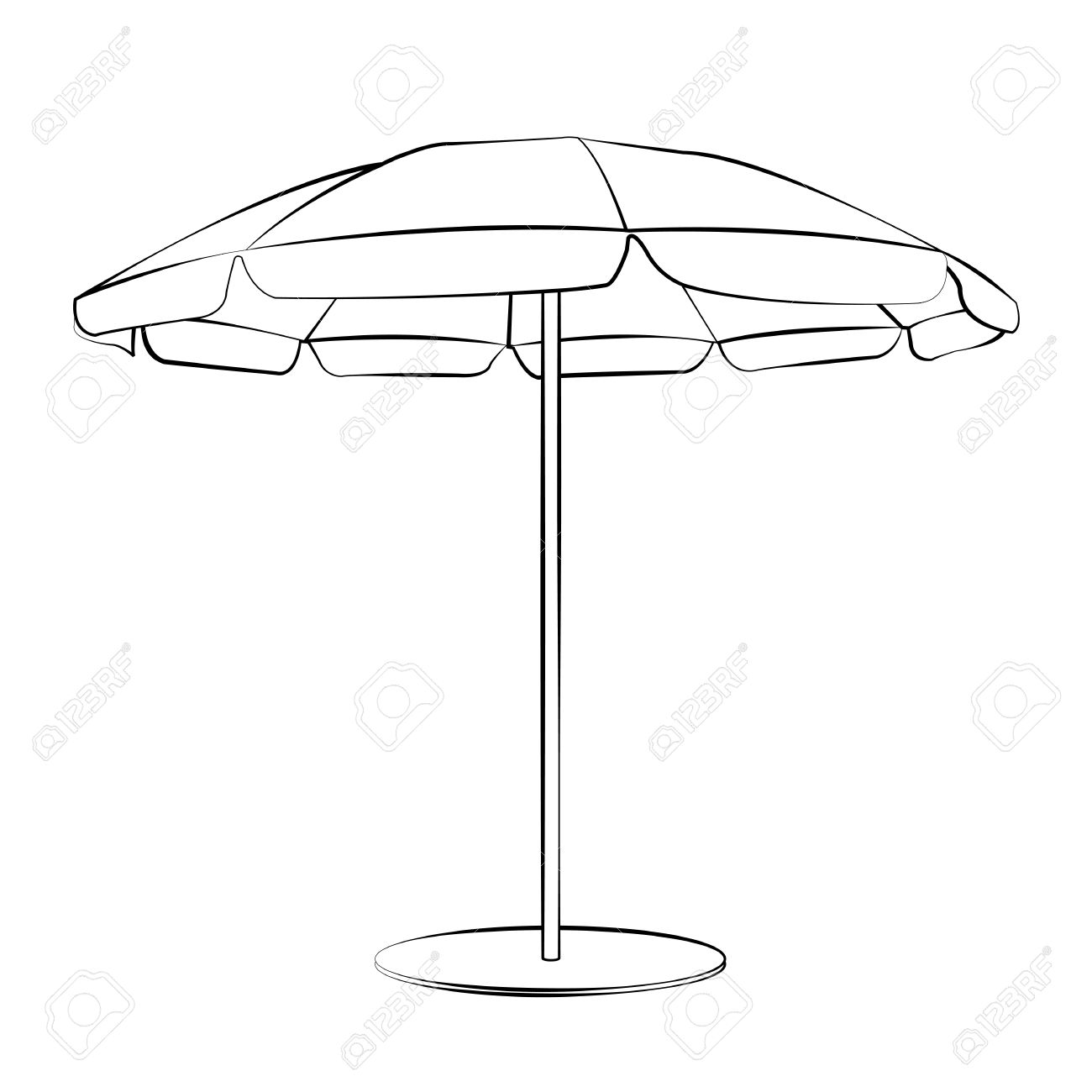 1300x1300 Drawn Umbrella Sun Umbrella