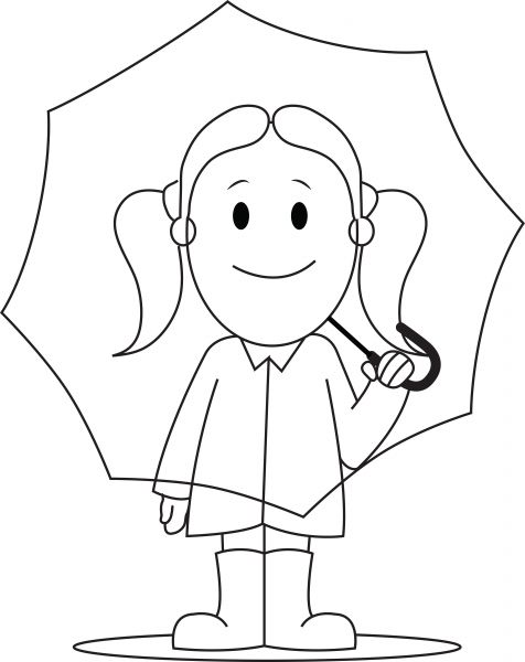 476x600 Girl Holding Umbrella
