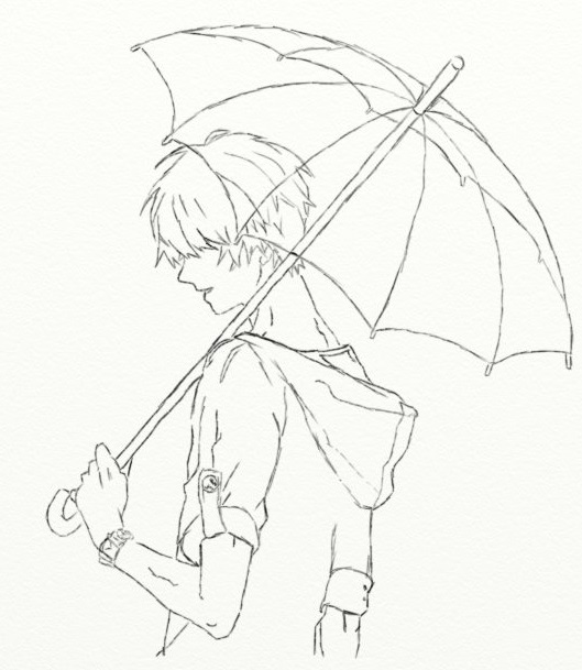 529x609 Umbrella Boy 1 By Aaronnayler