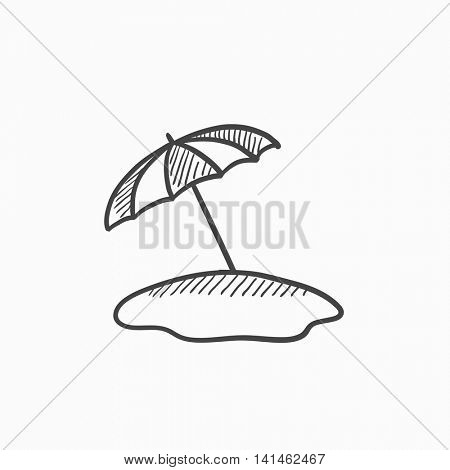 450x470 Beach Umbrella Vector Sketch Icon Vector Amp Photo Bigstock