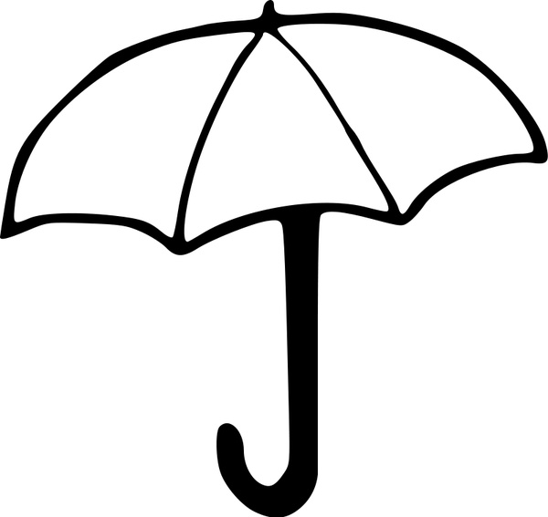 600x567 Umbrella Free Vector In Open Office Drawing Svg ( Svg ) Vector