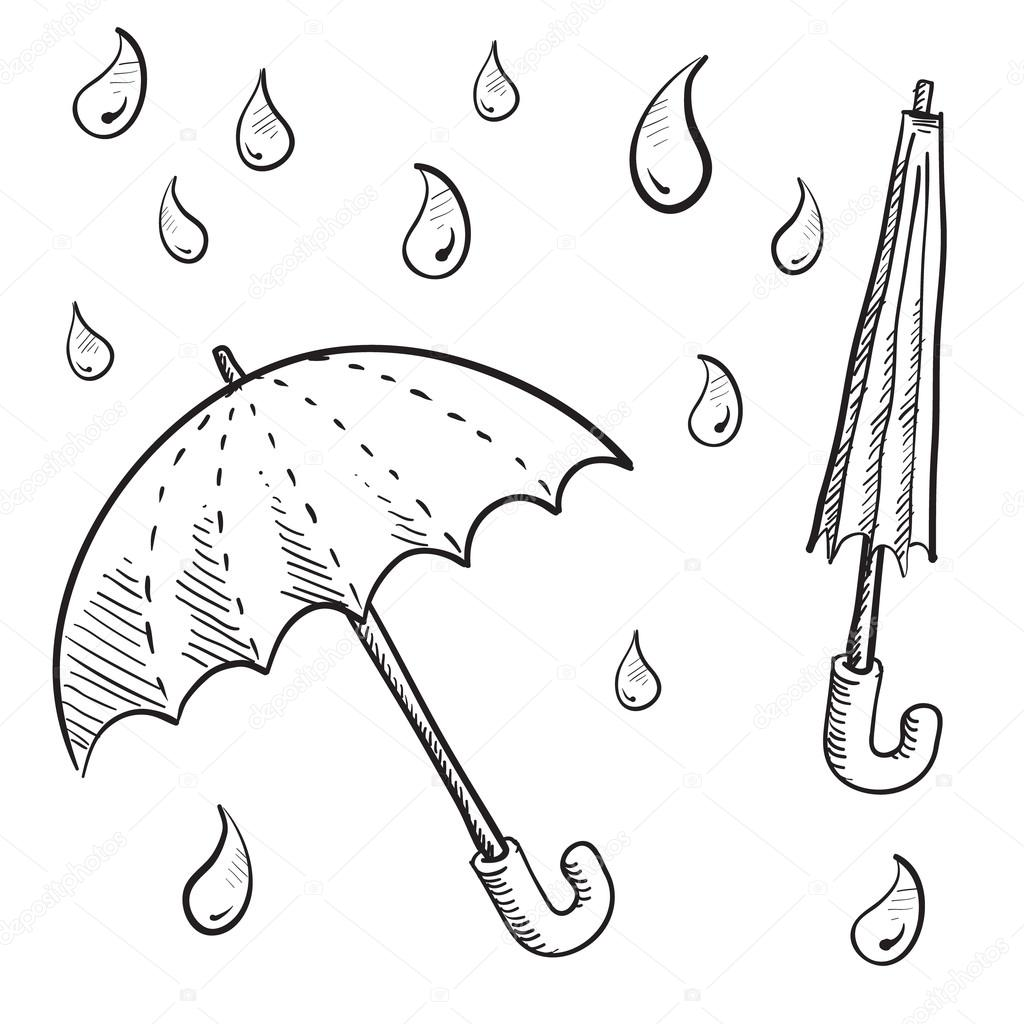 1024x1024 Umbrella Or Parasol Sketch Stock Vector Lhfgraphics