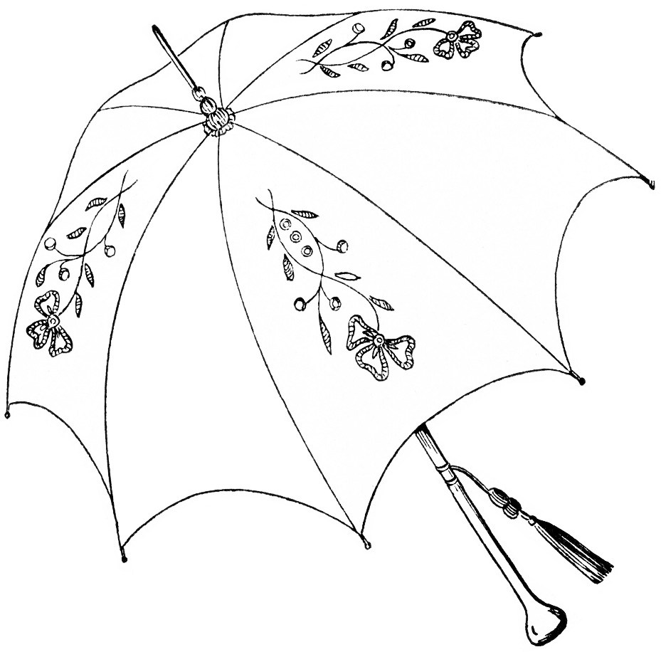 929x916 Vintage Parasol Clipart, Antique Clip Art Umbrella, Parasol Sketch