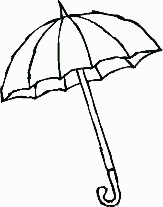 Umbrella Line Drawing