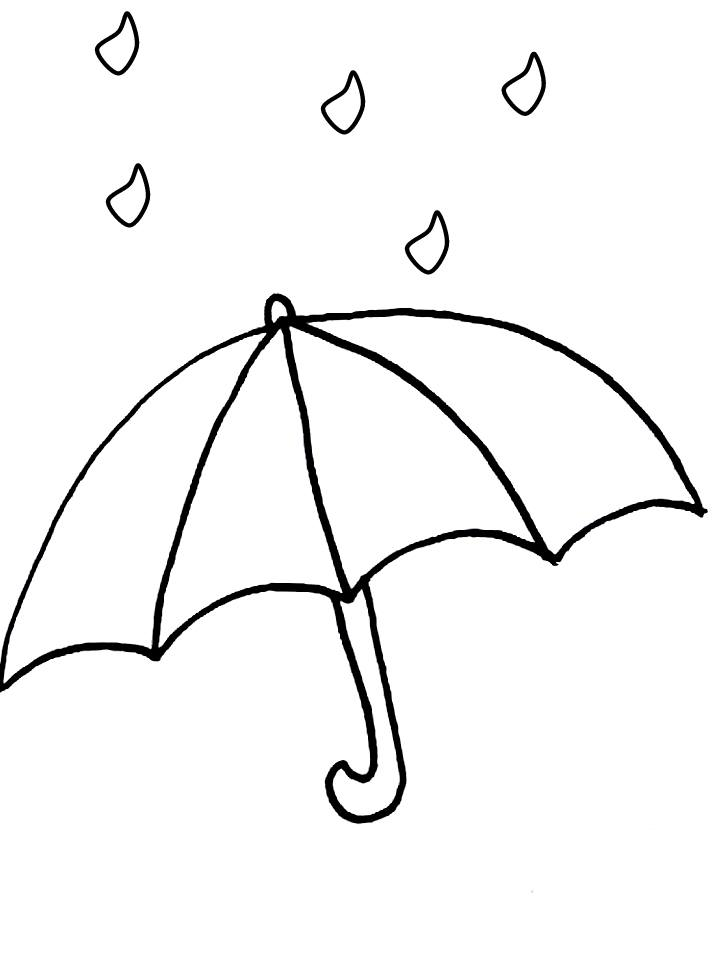 718x957 Remarkable Umbrella Coloring Pages 88 With Additional Line