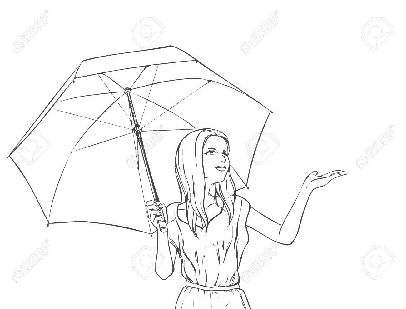 1300x989 Summer Portrait Of Young Slim Beutiful Girl Under Umbrella