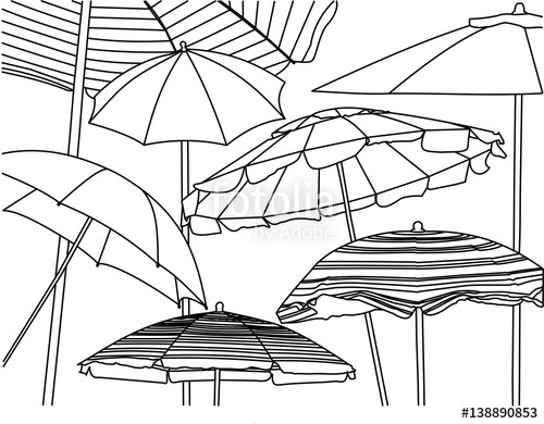 500x390 A Line Drawing The Sandy Pathway To The Beach Stock Photo