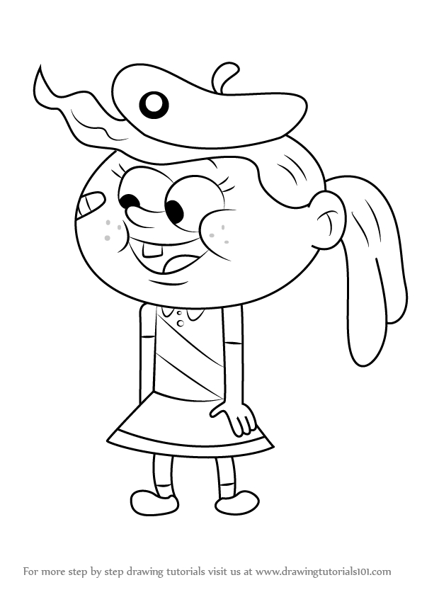 596x843 Learn How To Draw Emily From Uncle Grandpa (Uncle Grandpa) Step By