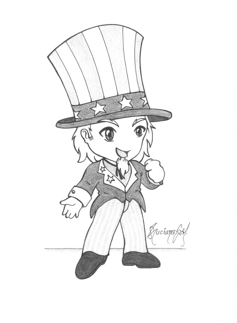 766x1042 Uncle Sam How To Draw Simple Black And White Line Drawing Of Uncle