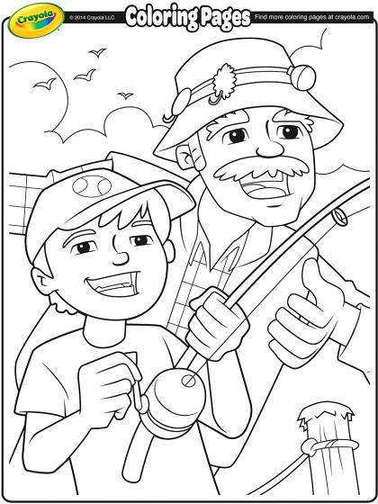 420x560 Grandpa Coloring Pages Fishing With Grandpa Grandparents Day