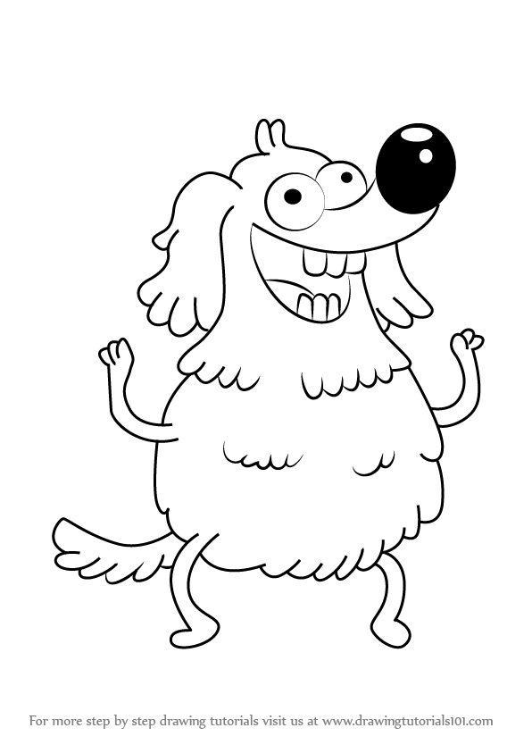 596x843 Learn How To Draw Charlie Burgers From Uncle Grandpa (Uncle