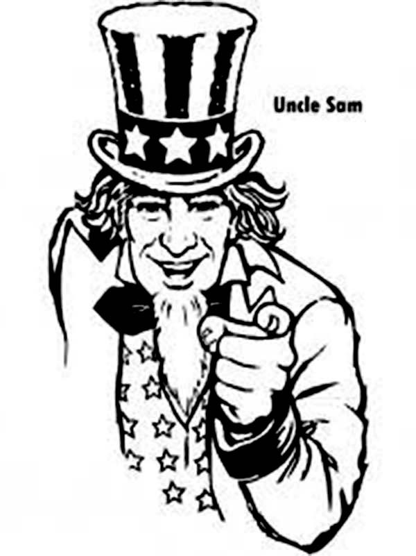 uncle sam drawing at getdrawings com free for personal use uncle rh getdrawings com 4th of July Clip Art Black and White 4WD Black and White Clip Art