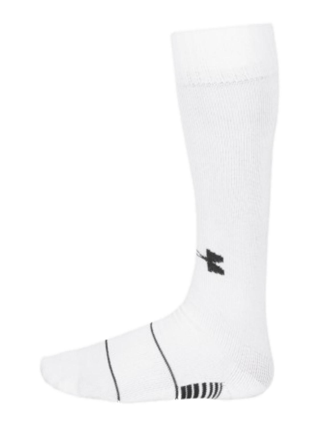 1125x1500 Under Armour Heatgear Performance Team Over The Calf White Socks