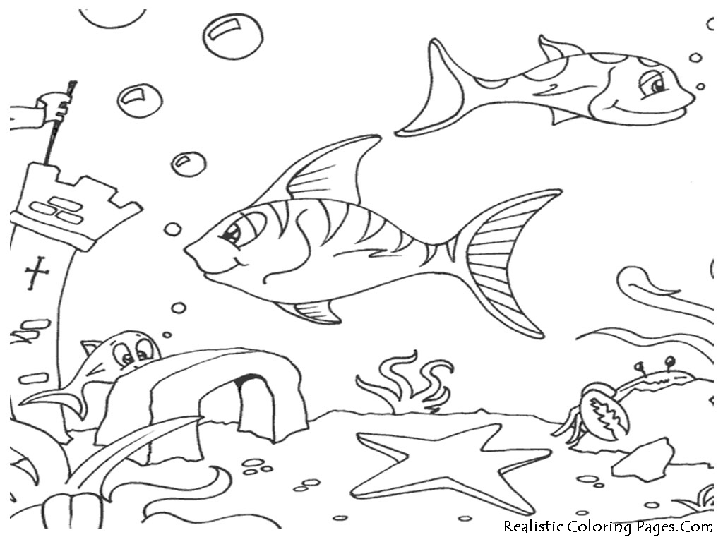 Under sea drawing at free for personal for Under the sea coloring pages for preschool
