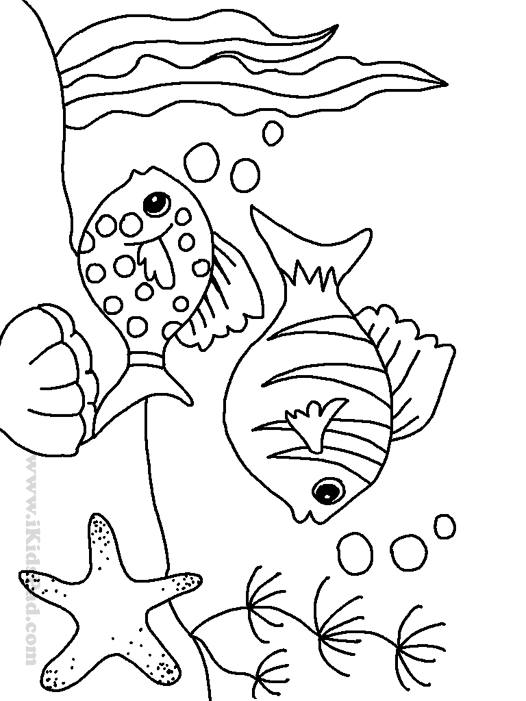 768x1024 good under sea fish coloring page with ocean inside pages