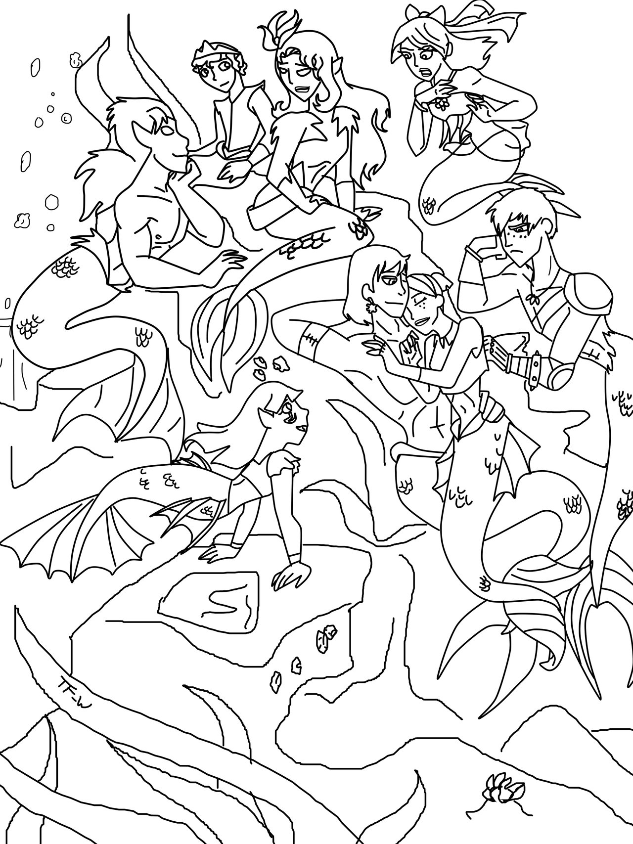 Under The Sea Drawing at GetDrawings.com | Free for personal use ...