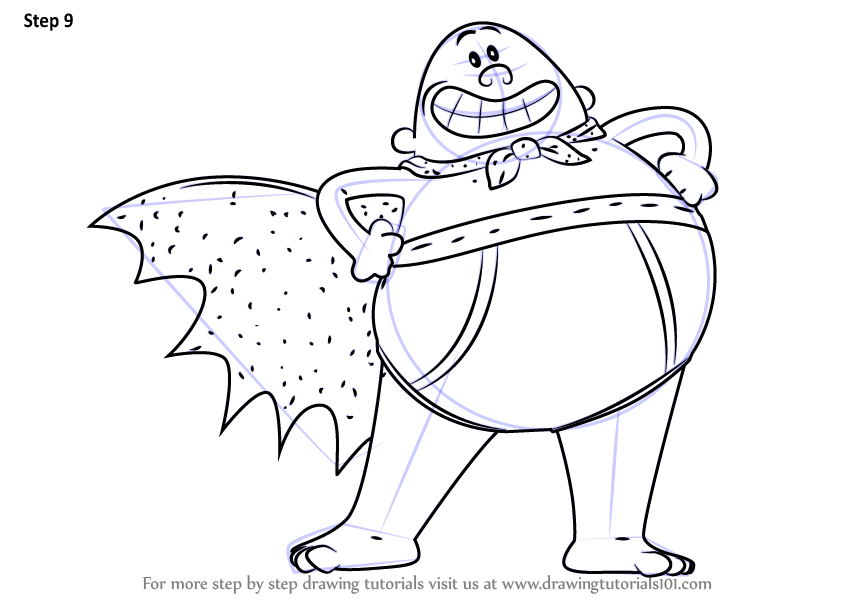 846x600 Learn How To Draw Captain Underpants From Captain Underpants Movie