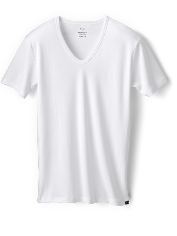 03f3427138d 600x800 Men s White V Neck T Shirt Or Undershirt Fine Ribbed Amp Slim Fit