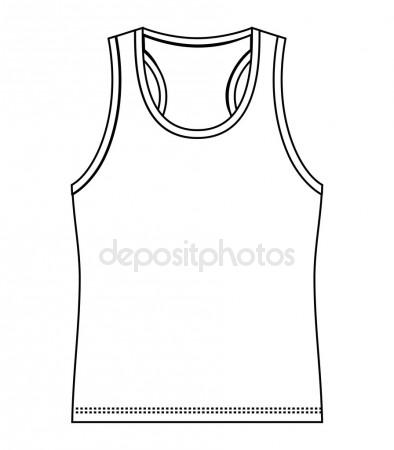 394x450 Outline Drawing Tennis Dress Stock Photo Viktorijareut