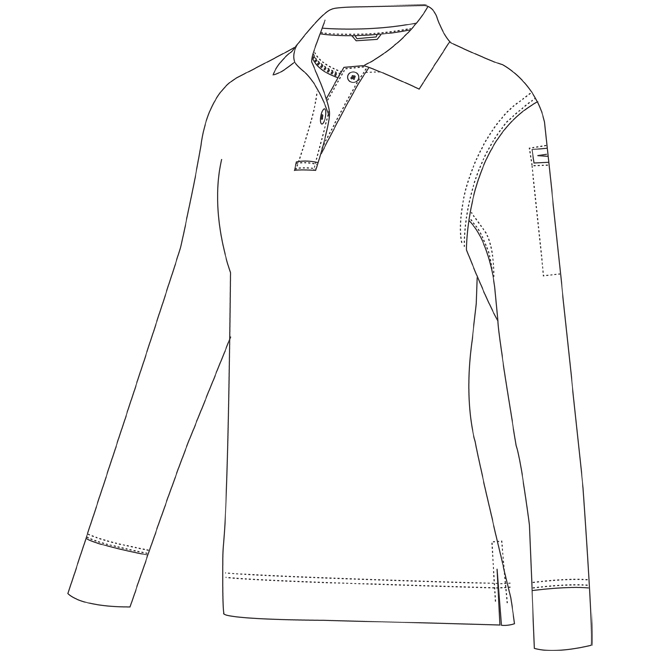 657x657 7 Ladies Long Sleeve Polo Shirt