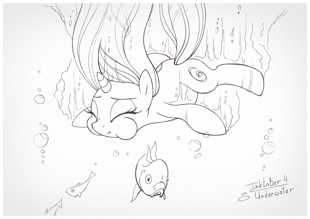 1024x724 Inktober 4 Underwater By Sherwoodwhisper