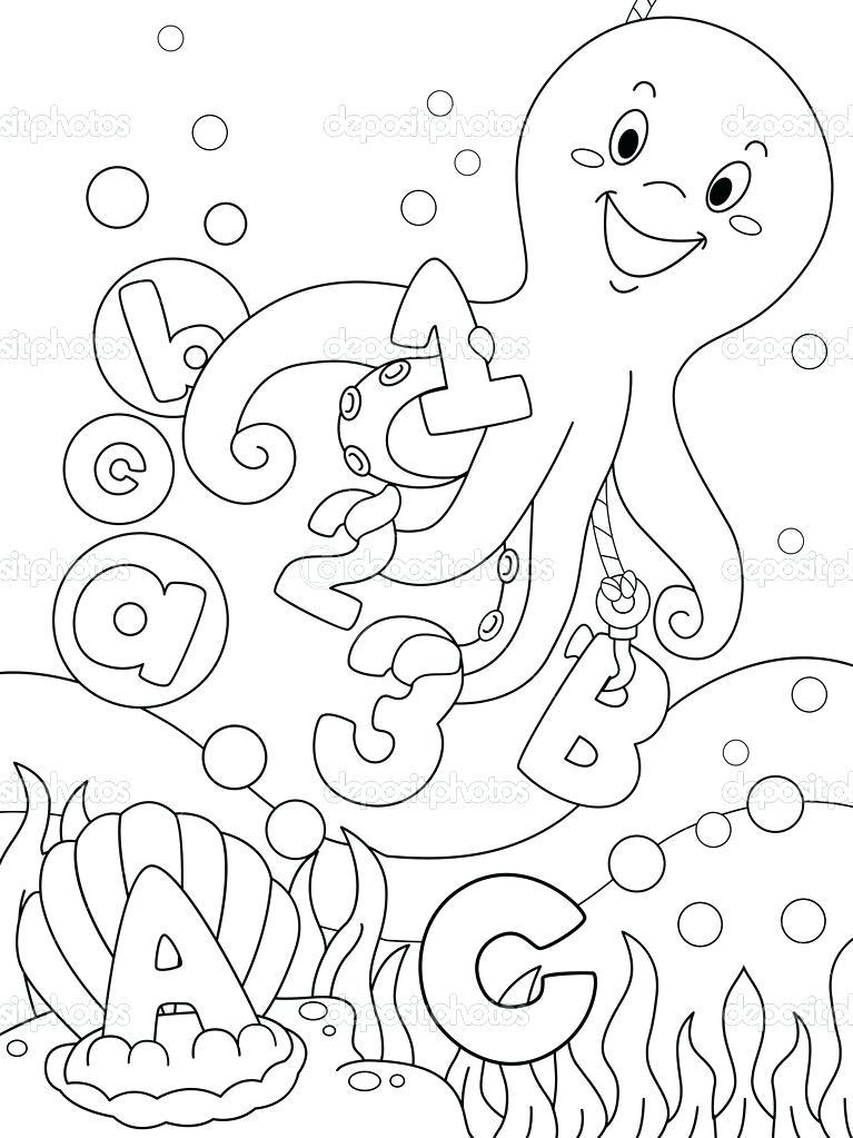 767x1023 Ocean Scene Coloring Page Ocean Scene Coloring Page Underwater