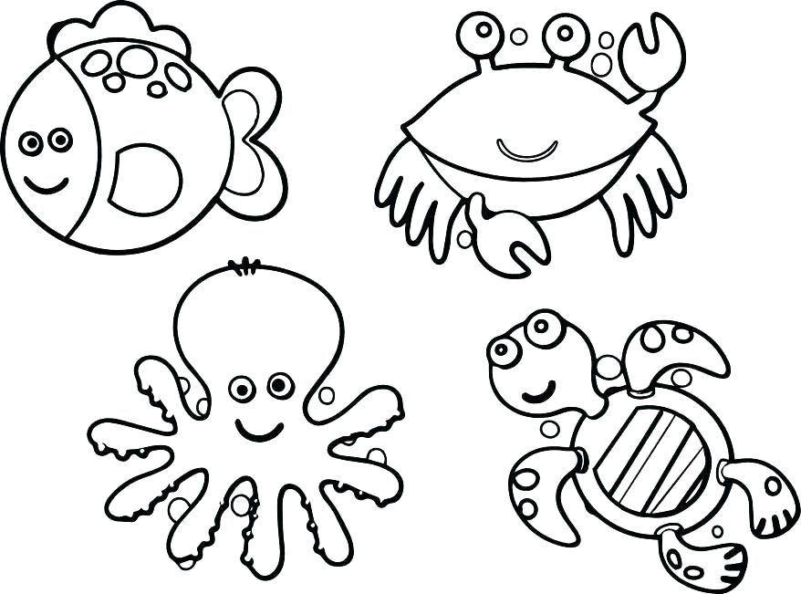 878x651 Awesome Sea Life Coloring Pages For Sea Life Coloring Pages