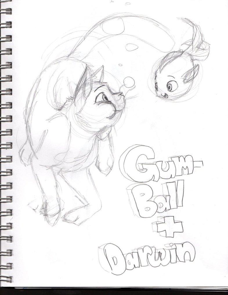786x1017 Gumball And Darwin Underwater Sketch By Kiedra357isback