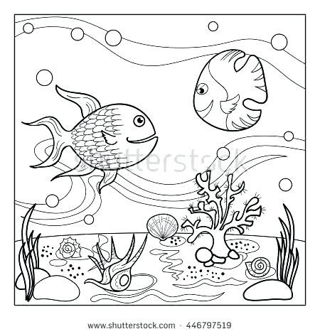 450x470 Underwater Coloring Page