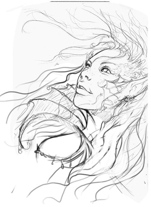 500x684 Underwater Sketch By Danielauhlig