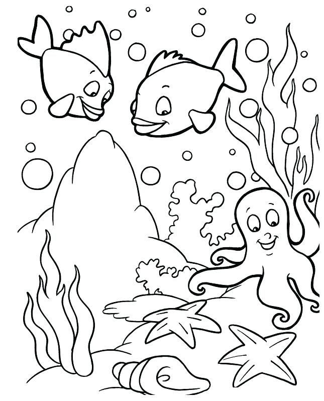 645x798 Ocean Scene Coloring Page