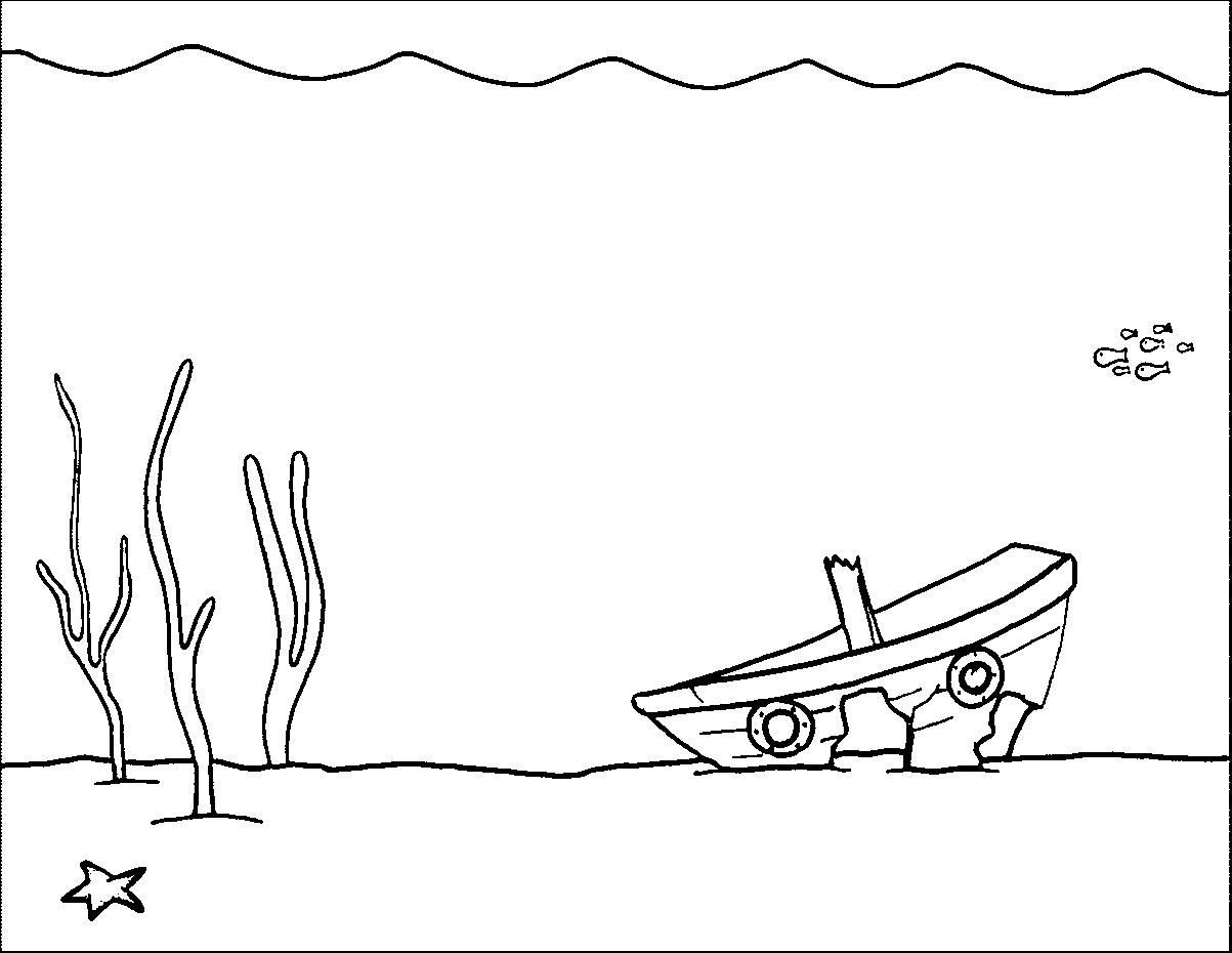 1203x930 Coloring Pages Underwater Scene Coloring Page Fun