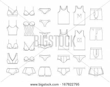 450x357 Set Lingerie. Underwear Men Women Vector Amp Photo Bigstock