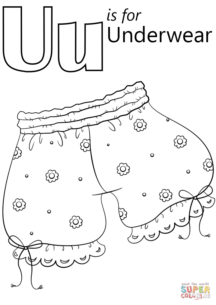 849x1200 U Is For Underwear Coloring Page Free Printable Coloring Pages