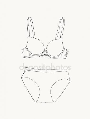 342x450 Underwear For Women In Panties And Bra Stock Vector Anytaktlv