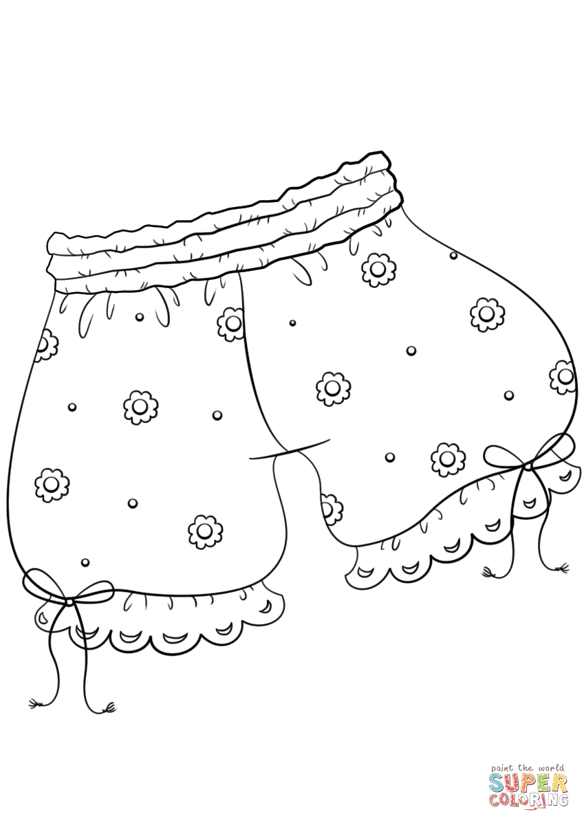 849x1200 Vintage Underwear Coloring Page Free Printable Coloring Pages