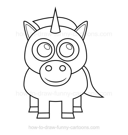 500x530 How To Draw A Unicorn