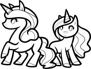 302x231 How To Draw How To Draw Unicorns For Kids