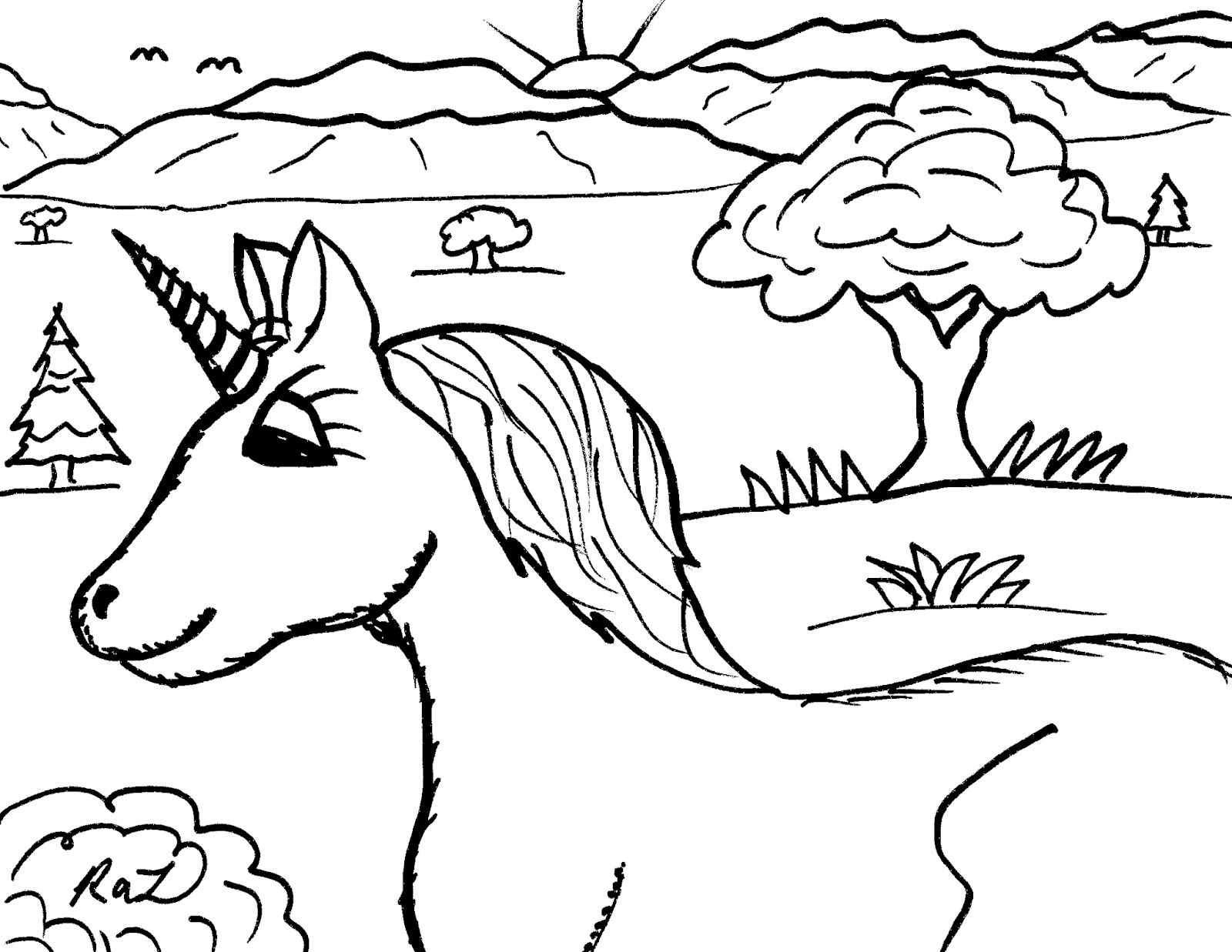 1600x1237 Robin's Great Coloring Pages Unicorn Cartoon Drawings To Color