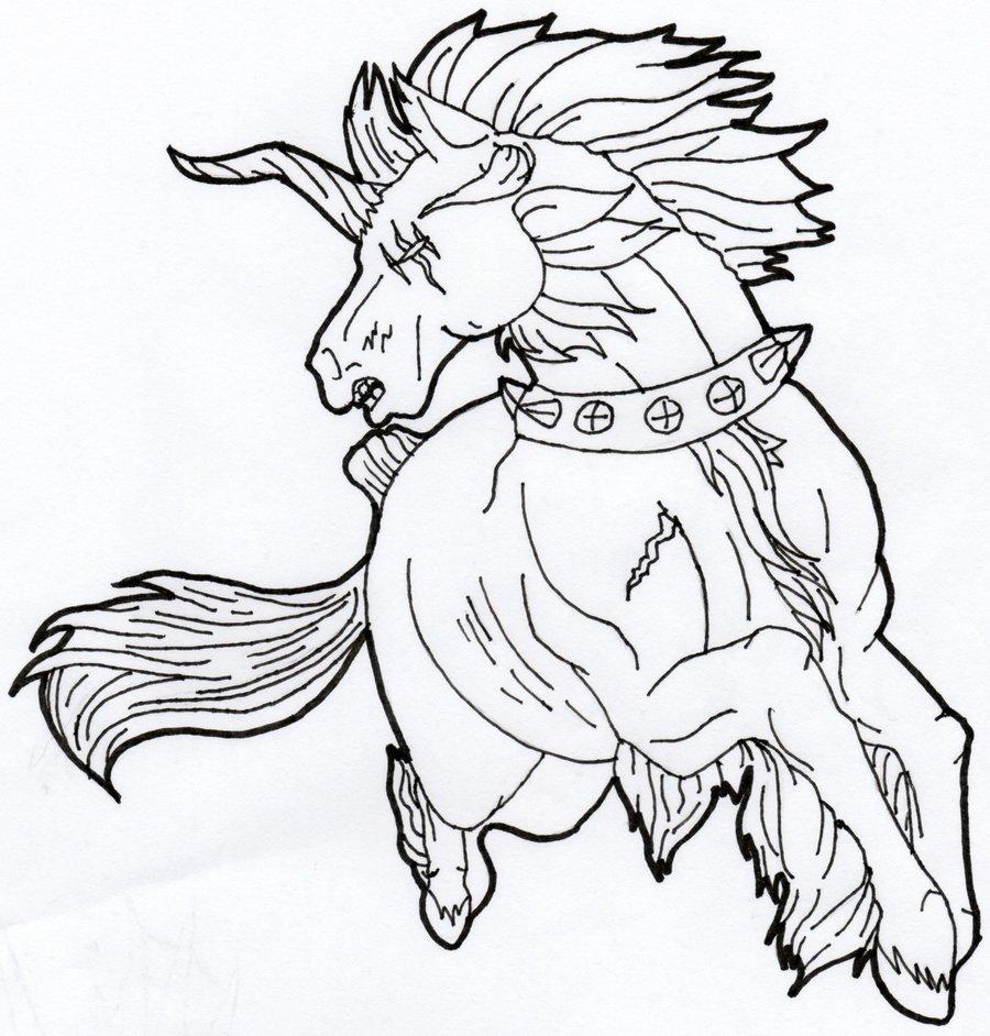 900x942 Best Unicorn Line Drawing Ideas