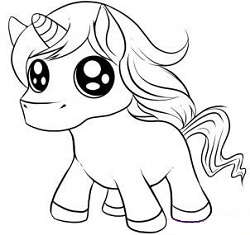 250x235 How To Draw Cool Things How To Draw Chibi Unicorn Step 5.jpg