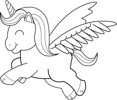 450x383 Finished Drawing Of Cartoon Unicorns Step By Step Tutorial How