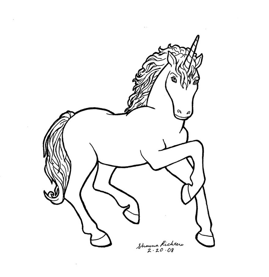 880x907 Unicorn By Gingersketches