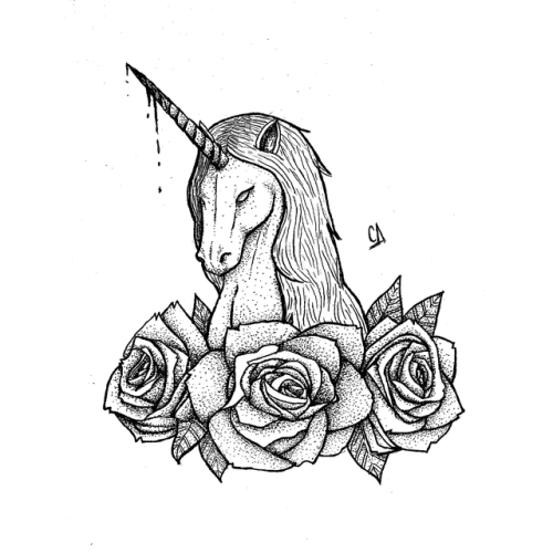 500x500 Unicorn Tattoo Drawing Tumblr