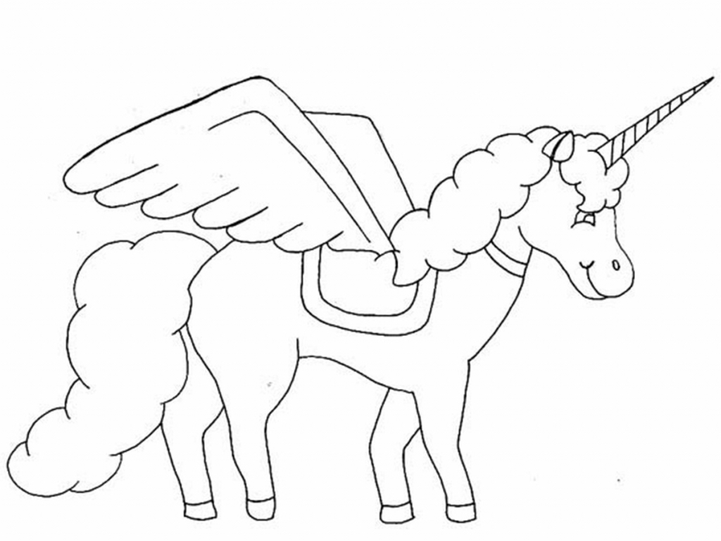 1024x768 Cartoon Unicorn Drawing Unicorn Drawing Easy Unicorn